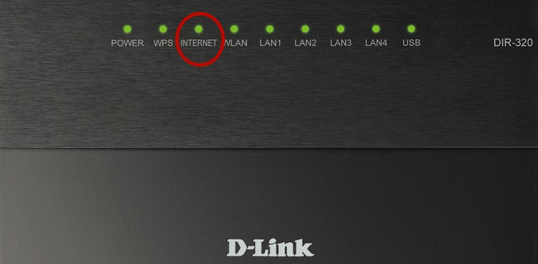 Индикатор подключения к интернету